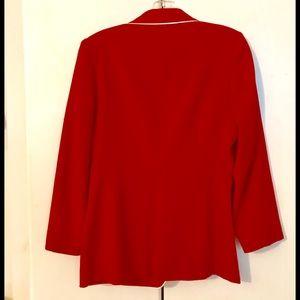 MAISON KITSUNE Jackets & Coats - MAISON KITSUNE NEW W TAGS RED BLAZER/WHITE PIPING